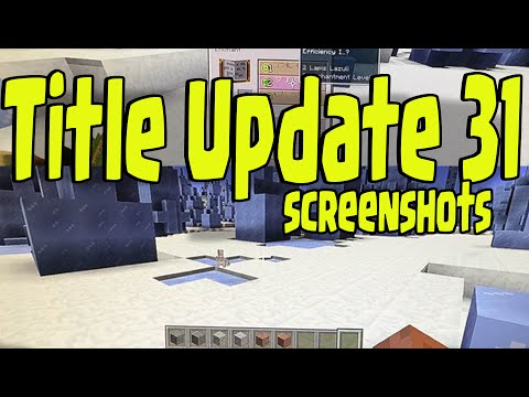 Minecraft PS3, PS4, Xbox - TITLE UPDATE TU31 NEW GAMEPLAY PICTURES (Ice Spike , Rabbits, Blocks)