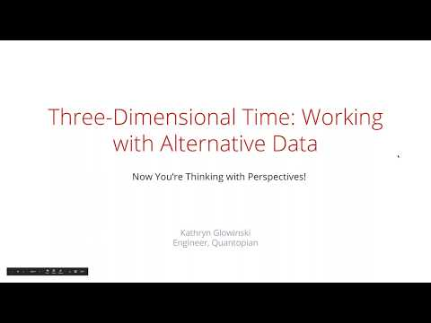 Webinar: Three Dimensional Time Working with Alternative Data