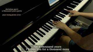Christina Perri - A Thousand Years Part 2 - Piano Cover & Sheets