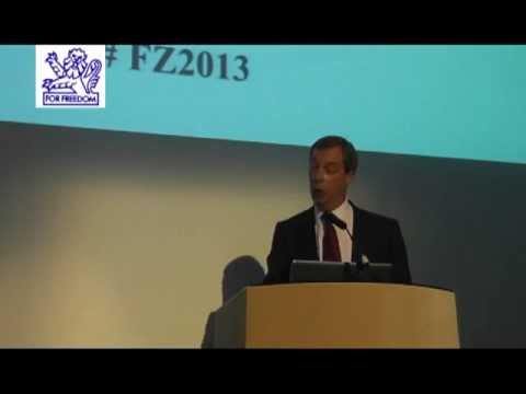 Nigel Farage MEP at the 2013 Freedom Zone