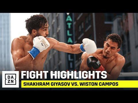 HIGHLIGHTS | Shakhram Giyasov vs. Wiston Campos