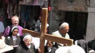 Holy Land with Zack: Via Dolorosa procession