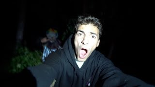 i got chased out of the woods by pennywise the clown