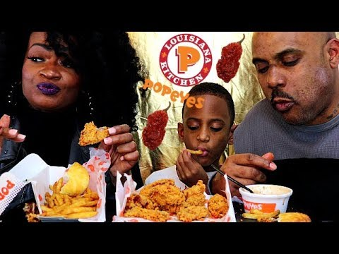 POPEYES NEW GHOST PEPPER WINGS REVIEW MUKBANG!