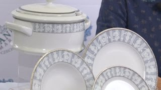 Посуда из белого фарфора Сабина (Sabina) Серый орнамент 1013 (Leander, Чехия)(, 2017-01-10T14:36:31.000Z)