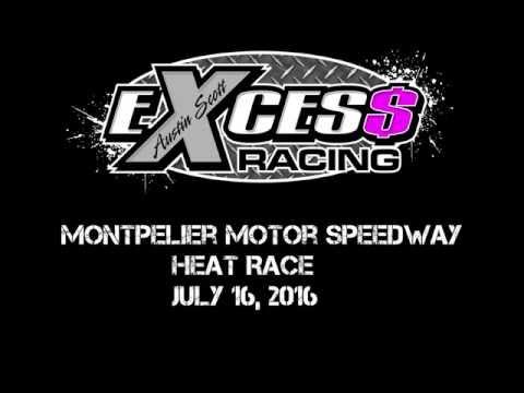 Montpelier Motor Speedway - Heat Race - July 16, 2016