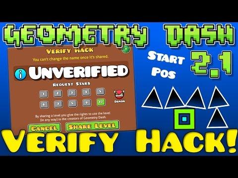 Geometry Dash 2.1 Verify Hack! [2.12 Steam]