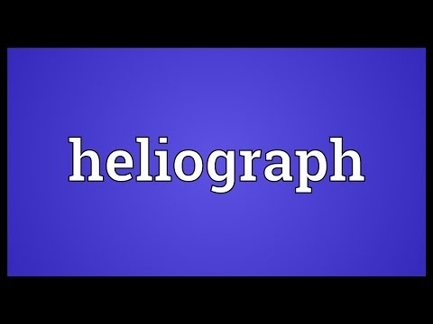 Heliograph Meaning