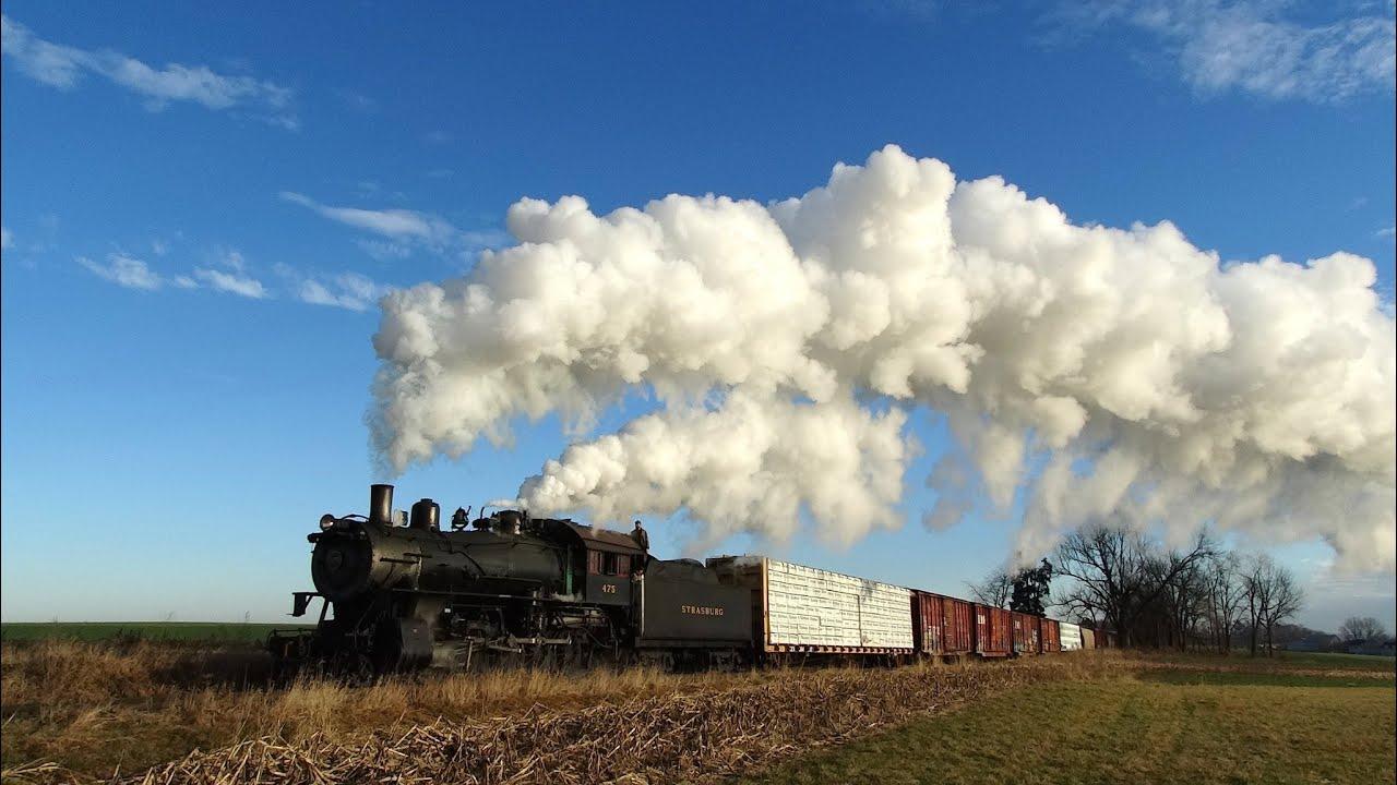 Strasburg Railroad Steam Freight 2014 Hd Youtube