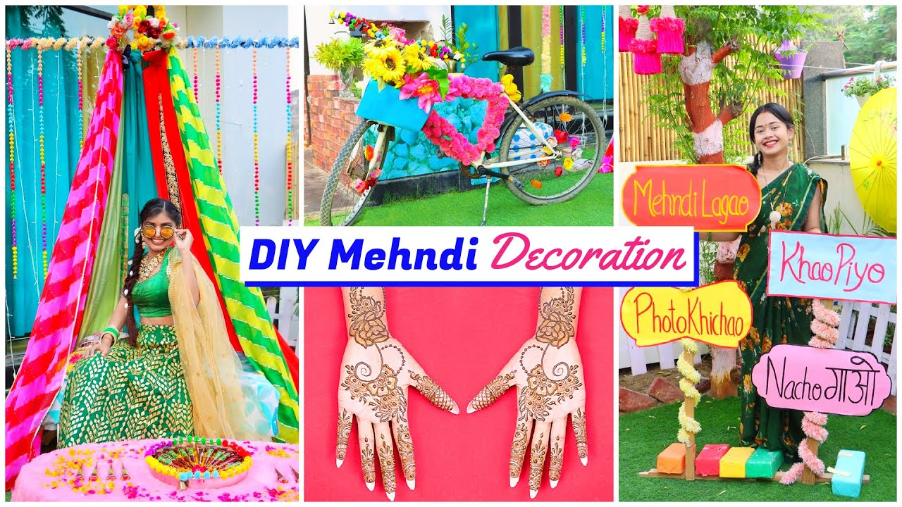 Mehndi DIY Decoration | Ceremony ideas | DIY Queen