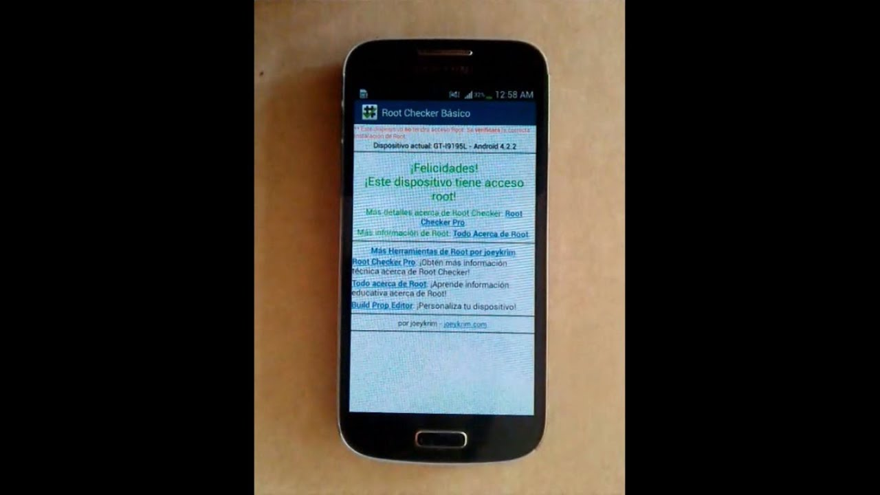 Root Samsung Galaxy S4 Mini Android 4 2 2 Y 4 4 2