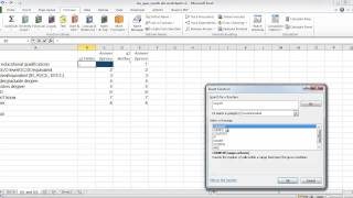 Excel and Questionnaires: How to enter the data and create the charts