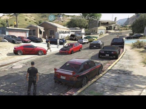 Grand Theft Auto V Online (360) | Street Car Meet Pt.12 | Road Trip, Drag Racing, Cops & More