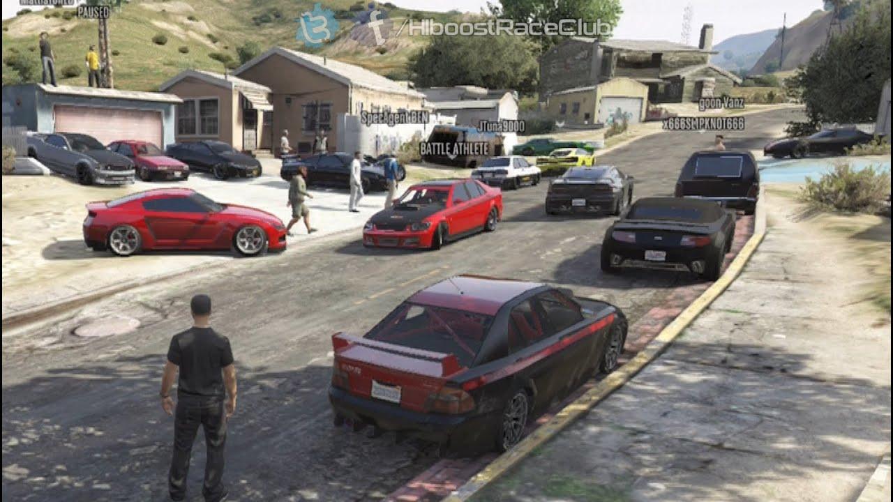 Grand Theft Auto V Online Street Car Meet Pt Road