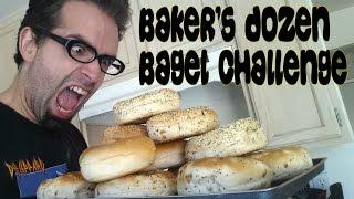 Lucky 13 Bagel Challenge - Dirty Baker's Dozen w/ Freakish Chef | FreakEating vs The World 118