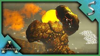 LAVA GOLEM BOSS DEFEATED! DEAD TREX IN A SPIDERWEB! - Ark: RAGNAROK [DLC Gameplay E48]