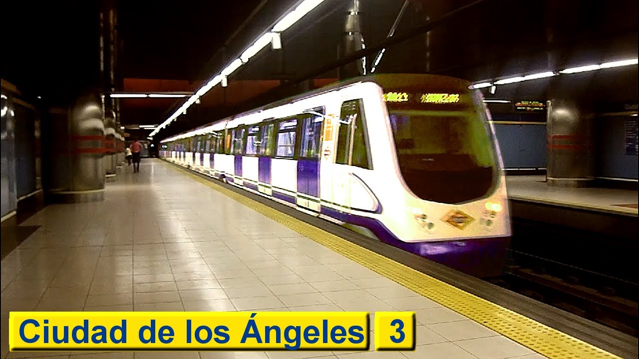 Ciudad De Los Angeles Line 3 Metro De Madrid Class 3000
