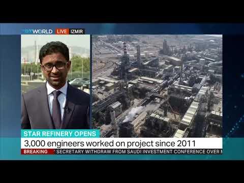 Azeribuilt oil refinery opens in Aegean Turkey