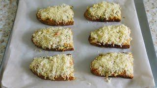 Быстрые горячие бутерброды в духовке. Самый простой рецепт из простых продуктов