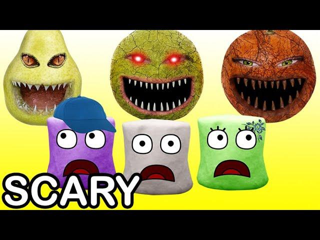 Scary fruits do pranks to marshmallows (scary pranks)