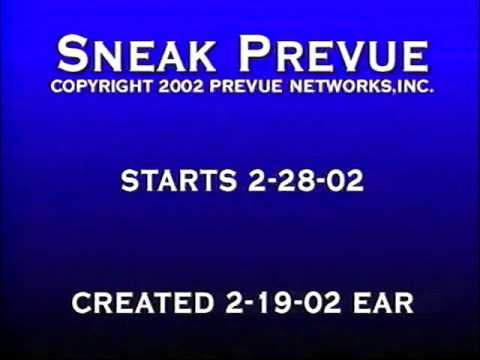 2002 Sneak Prevue Background Audio Channel
