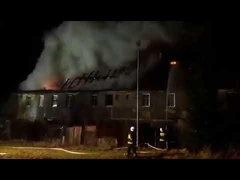 Pożar budynku mieszkalnego.  Leśna ul. Orzeszkowej 28.01.2018