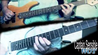 Captain Sensible - Wot (Guitar & Bass Cover)