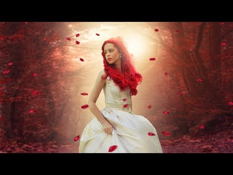 Fantasy retouch red scene photo manipulation | photoshop tutorial cc