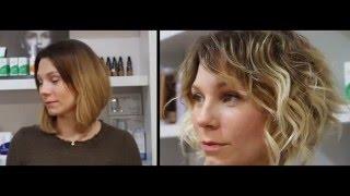 Каре на вьющиеся волосы & мелирование