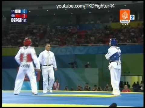 Taekwondo Olympic Games Beijing 2008 Women -49 Kg China vs Chinese Taipei Round 1