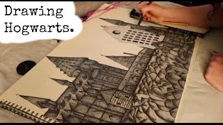Drawing Hogwarts Castle