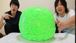 世界一大きいスーパーボールをスライム1トンから作った!! thumbnail