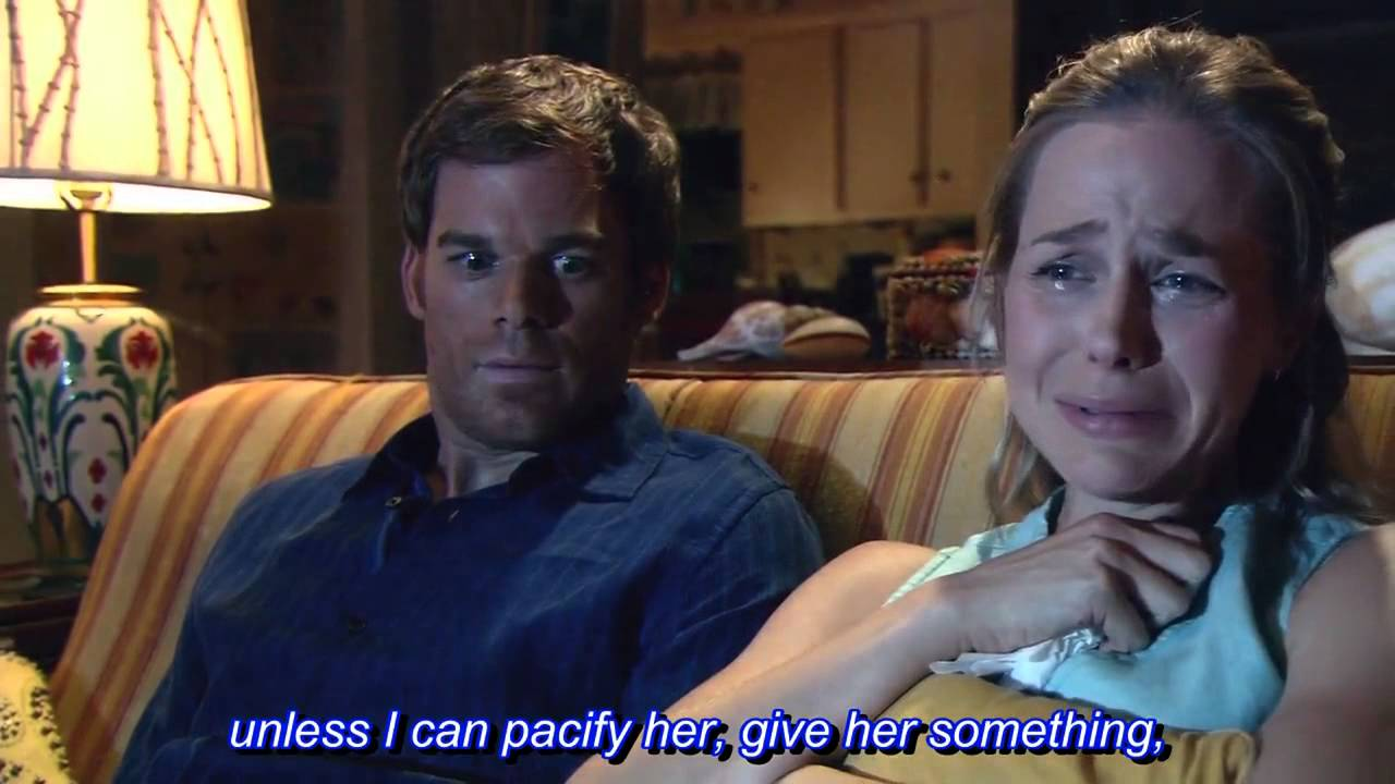 Download Dexter season 1 episode 5 - Funny scene with Rita