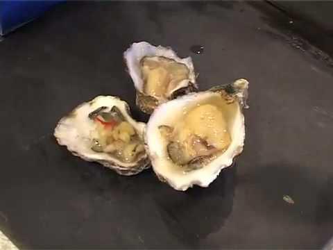 platte oesters openen video