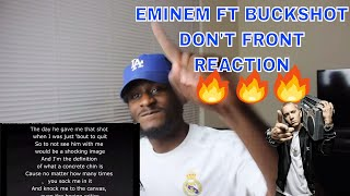 DON'T FRONT - EMINEM   SLIM SHADY GOES CRAZY OVER OLD SCHOOL BEAT!!!   REACTION