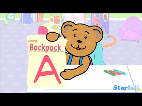"""Backpack is a Little Bear"" a Starfall™ Movie from Starfall.com"
