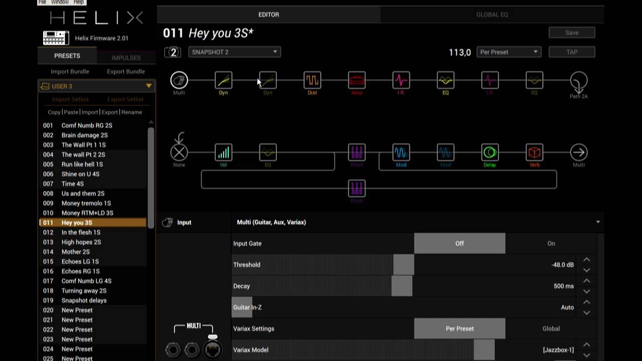 Helix - free Pink Floyd presets update