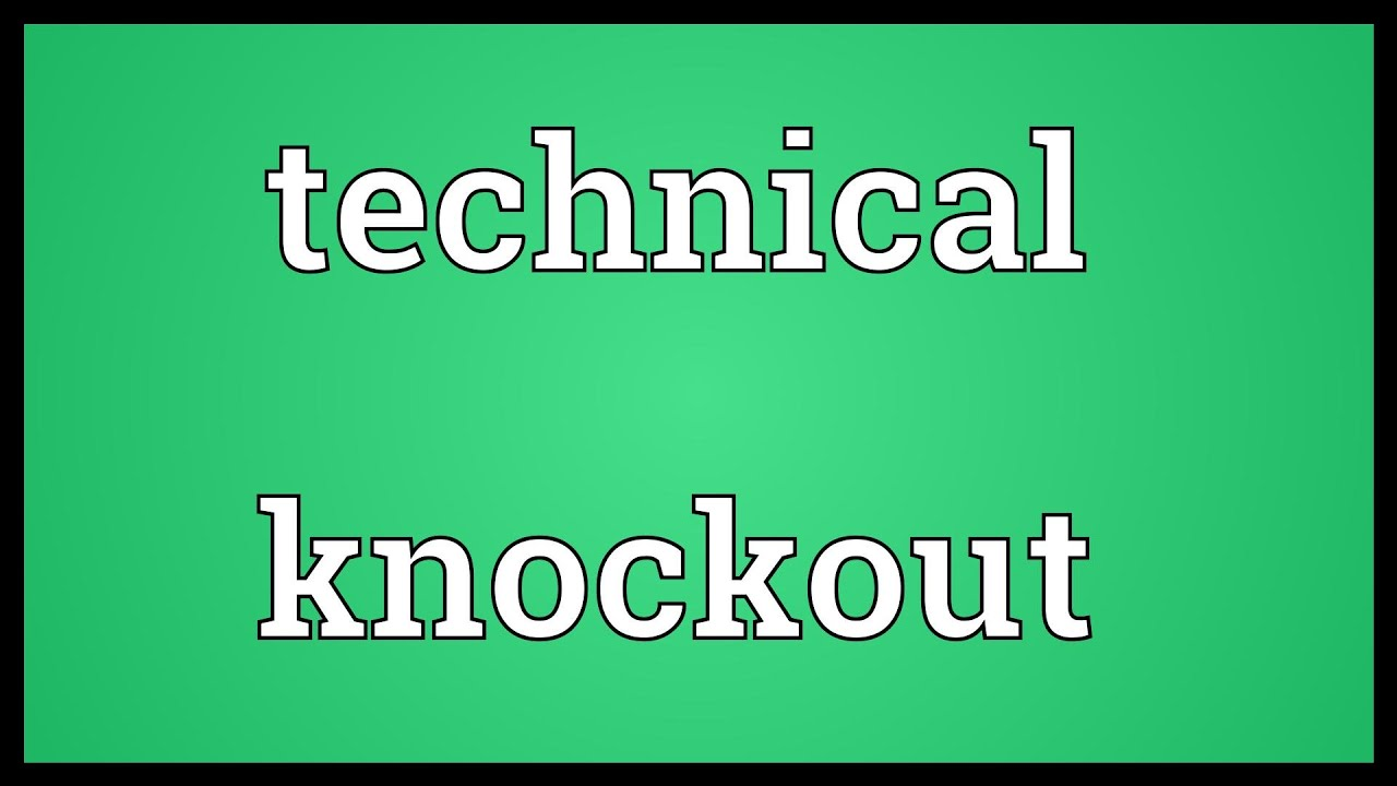 Knock out meaning in tamil