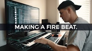 MAKING A FIRE BEAT. Making a beat from scratch (With Commentary) [EPISODE #5] - Kyle Beats