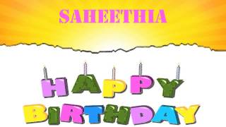 Saheethia   Wishes & Mensajes Happy Birthday