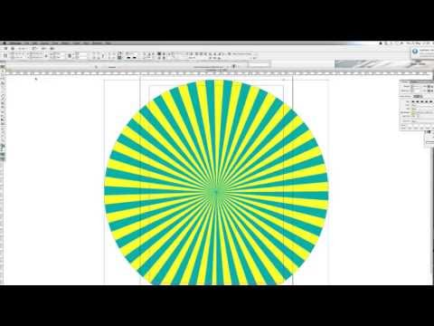 How To Create A Sun-Ray Effect In Adobe InDesign | DesignTutorial