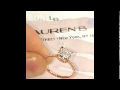 1.70 ct Cushion Cut Diamond Engagement Ring in Rose Gold