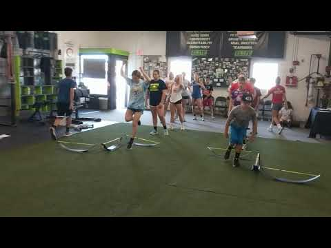 Athletes working on single-leg power and body control