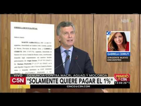 """""""Hay plata solo para perdonarle deudas a los Macri"""""""