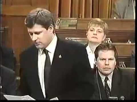 Pro-war Conservatives Stephen Harper and Stockwell Day 2003 .mp4