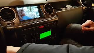 Land Rover Discovery установка мультимедии Android 7,  камера заднего вида, потолочный монитор