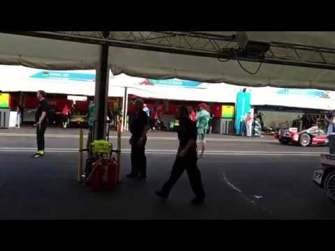 Andres Asion at Miami Formula E Race Day - Andretti Team Pit