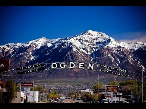 Aerial and Ground Views Of Ogden Utah O-Town
