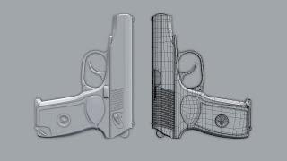 Timelapse: Hard Surface Modeling Makarov pistol in Blender 2.76