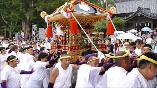 1179これが「やわたんまち」沓見区莫越山(なこしやま)神社の神輿(黄色)H29akk13